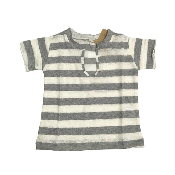 Vale V neck striped Tee