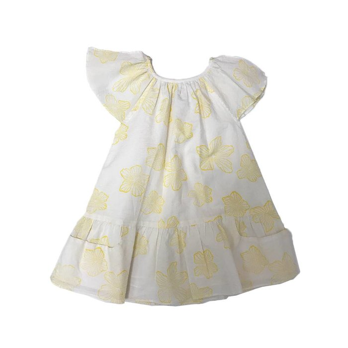 Carmensita Dress Yellow Flowers