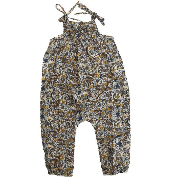 Nanana smocked jumpsuit fleur ecru