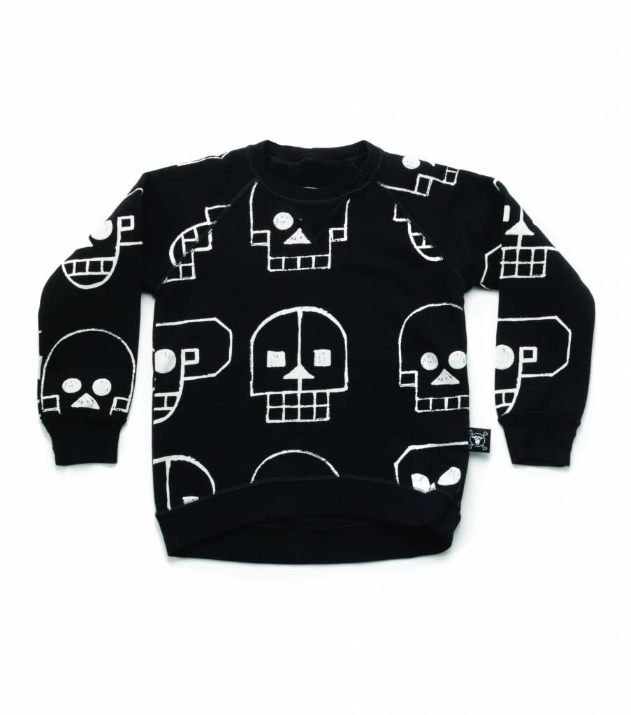 Skull Robot Sweatshirt Black