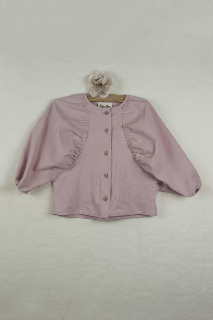Shirt with Puffed Sleeve