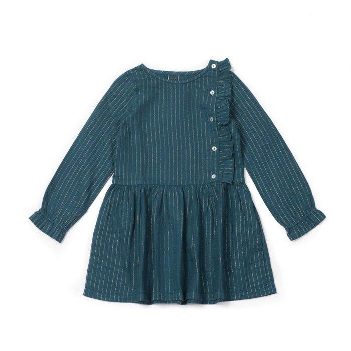 Dress Lurex Bleu Paon