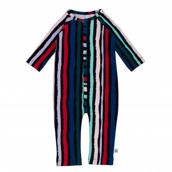 Playsuit Black Winter Stripes