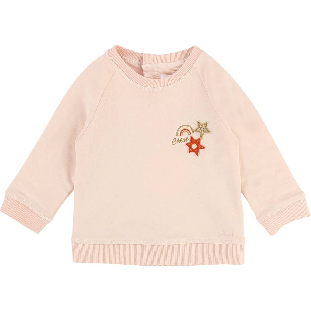 Baby Fleece Sweater w/ Patches Poudre
