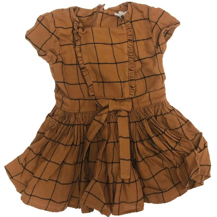 India Block Dress Nutmeg