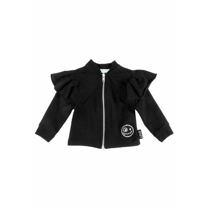 Whisk Sweater Zip Up Black