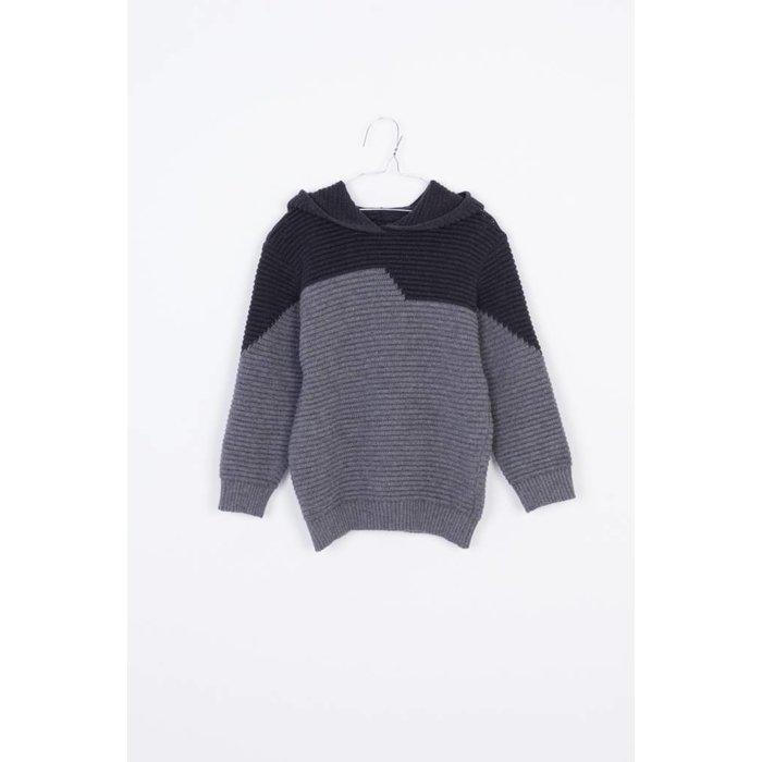 Hoodie Sweater Dark grey & grey
