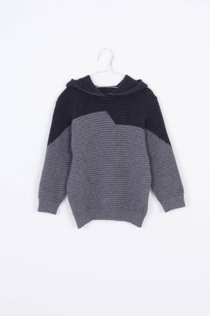 Hoodie Sweater Dark grey & grey