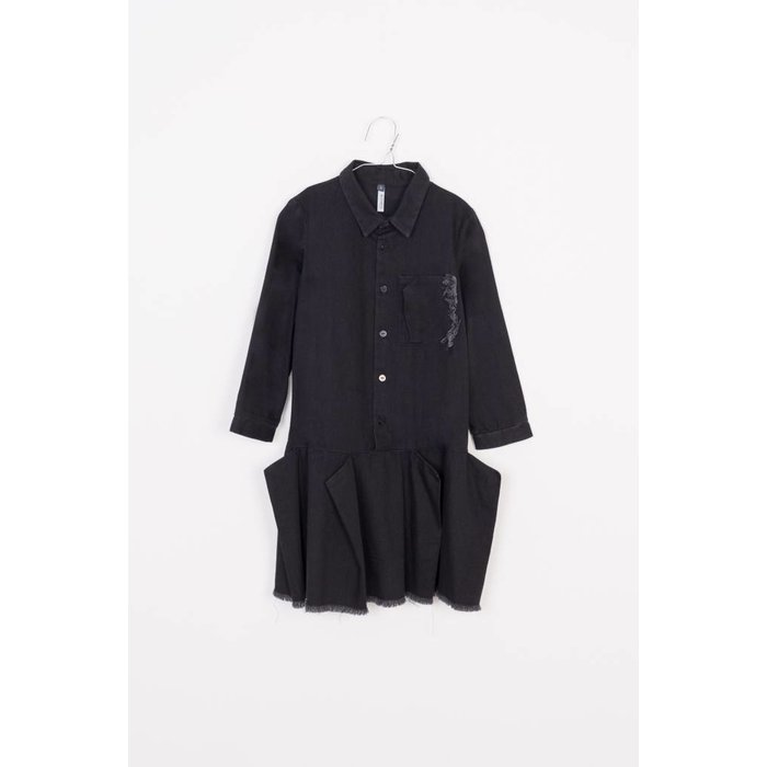 Flapper Dress Black Denim