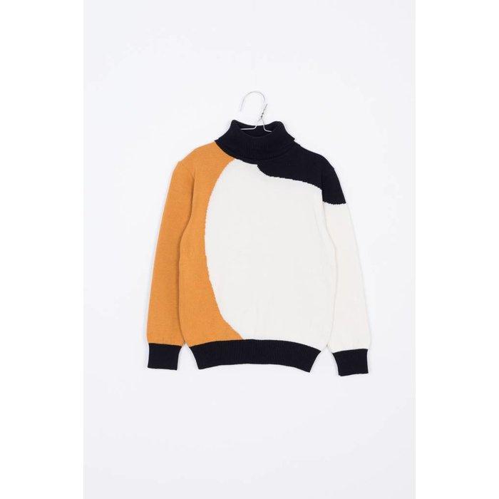 Eero Sweater Mustard/off white/black