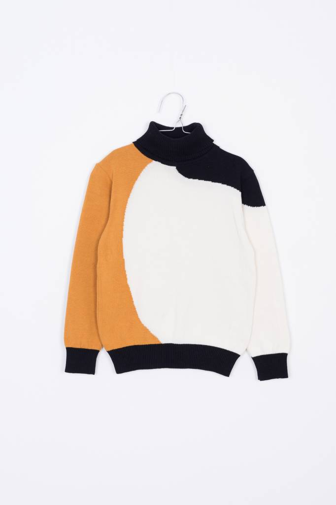 Eero Sweater Mustard/off white/black