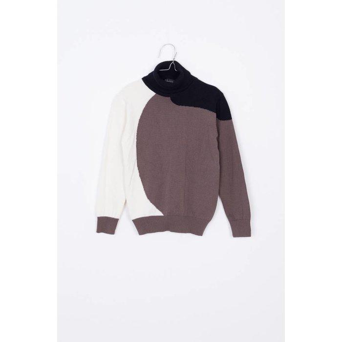 Eero Sweater Taupe/off white/black