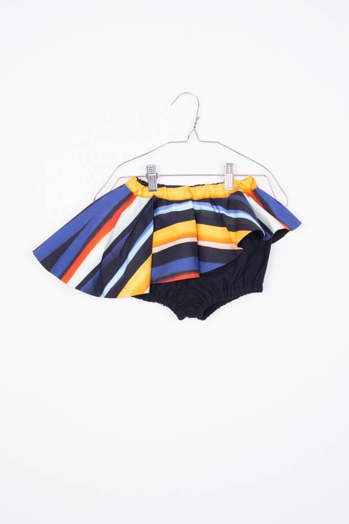Skort Black and Colour Stripes
