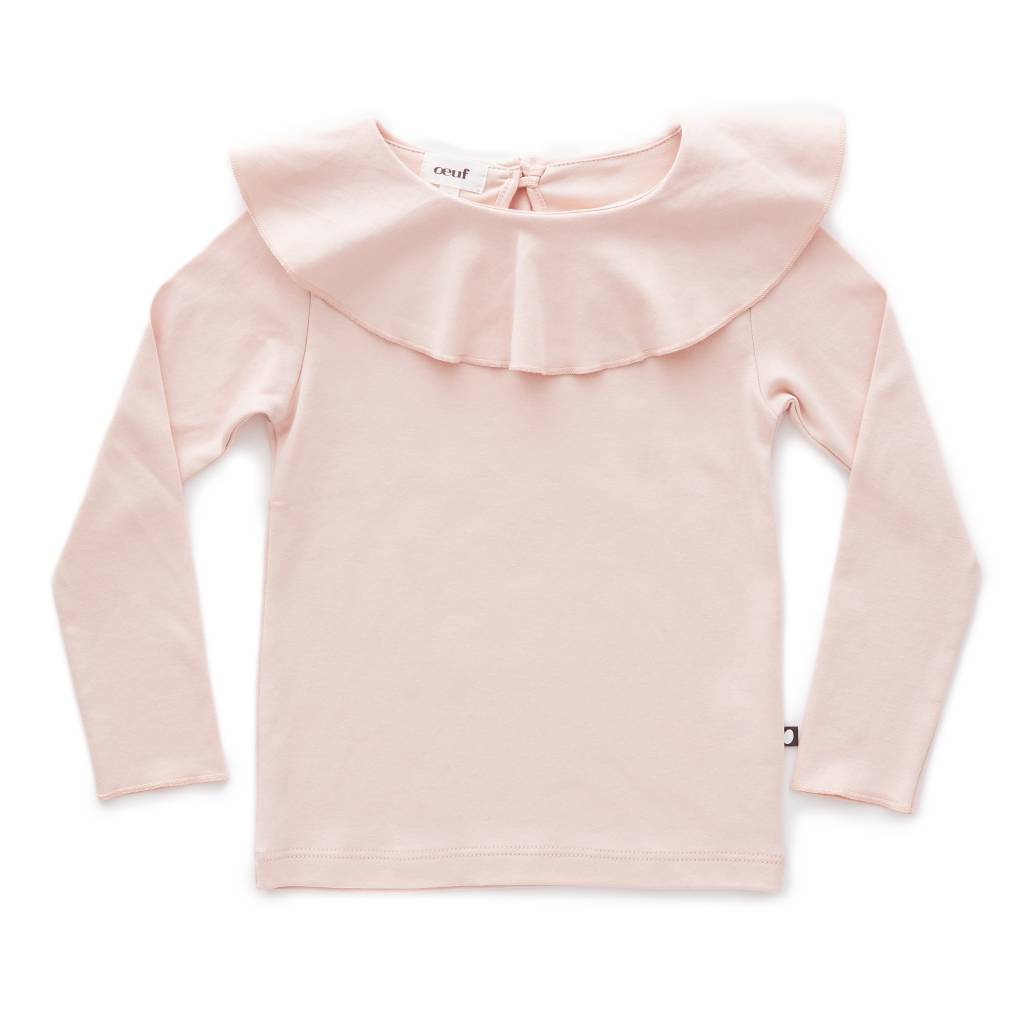 Ruffle Collar Tee Light Pink