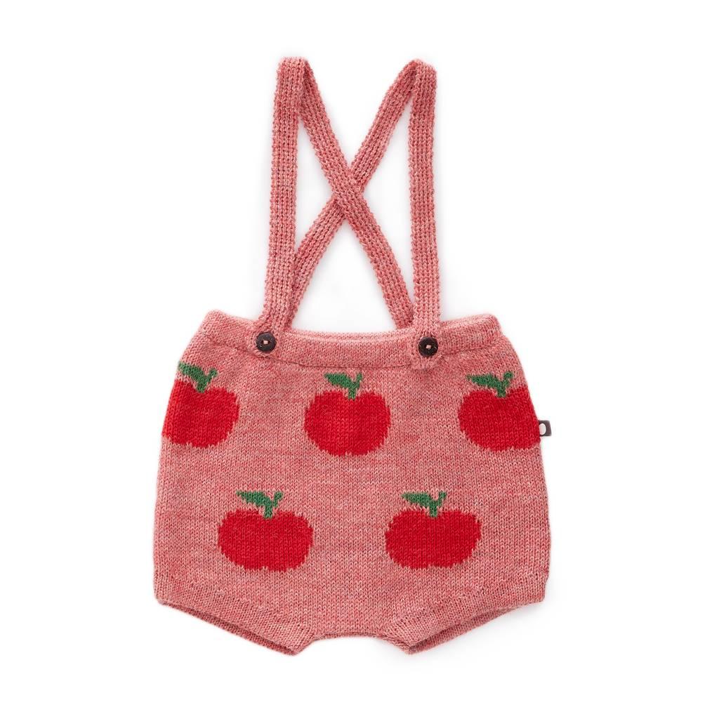 suspender shorts Rose/Red