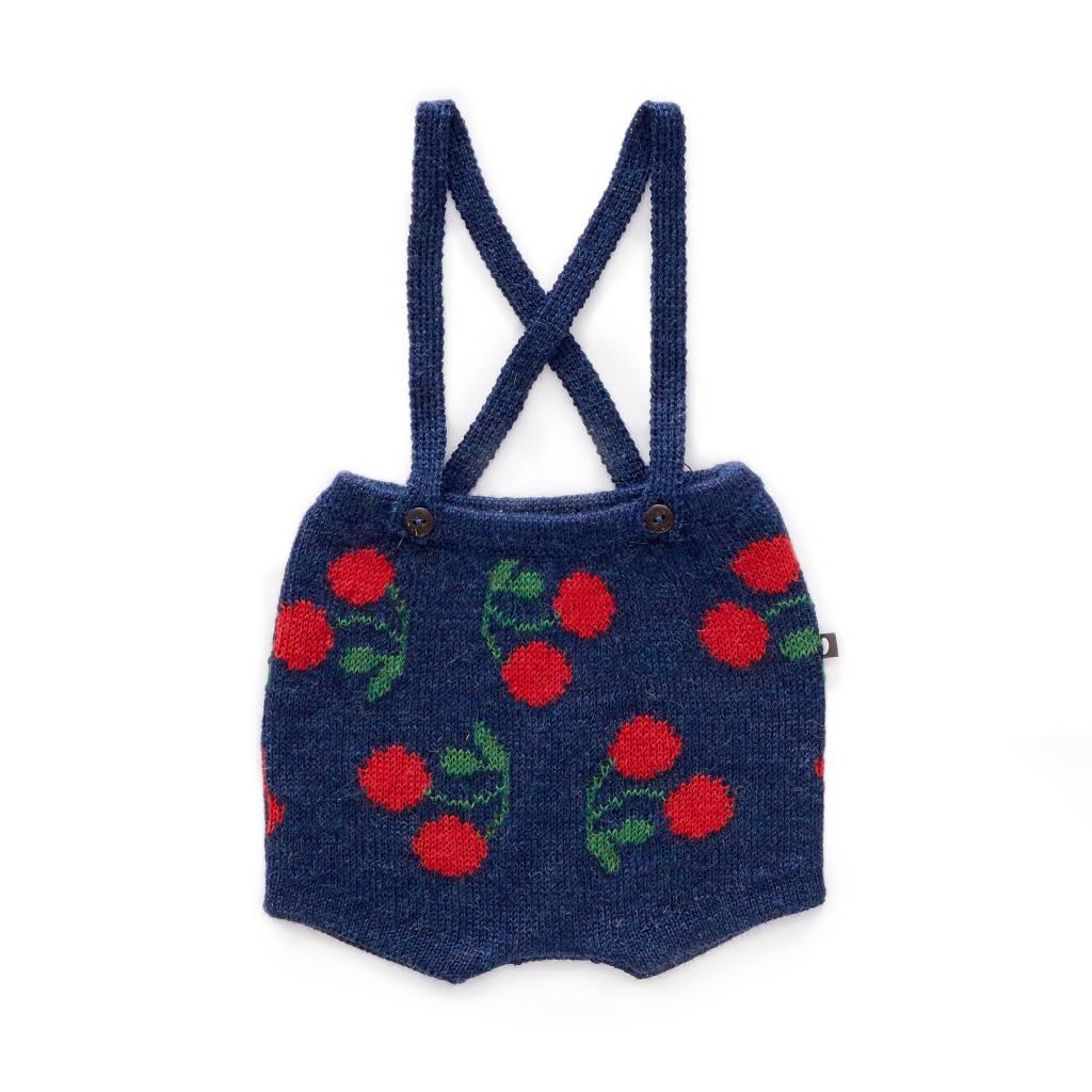 suspender shorts Indigo/Red