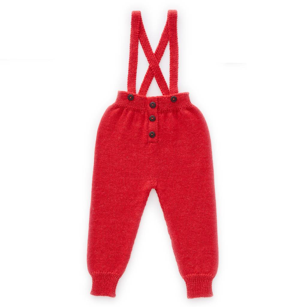 Suspender Pants Red