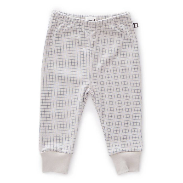 Leggings Light Grey/Blue Checks
