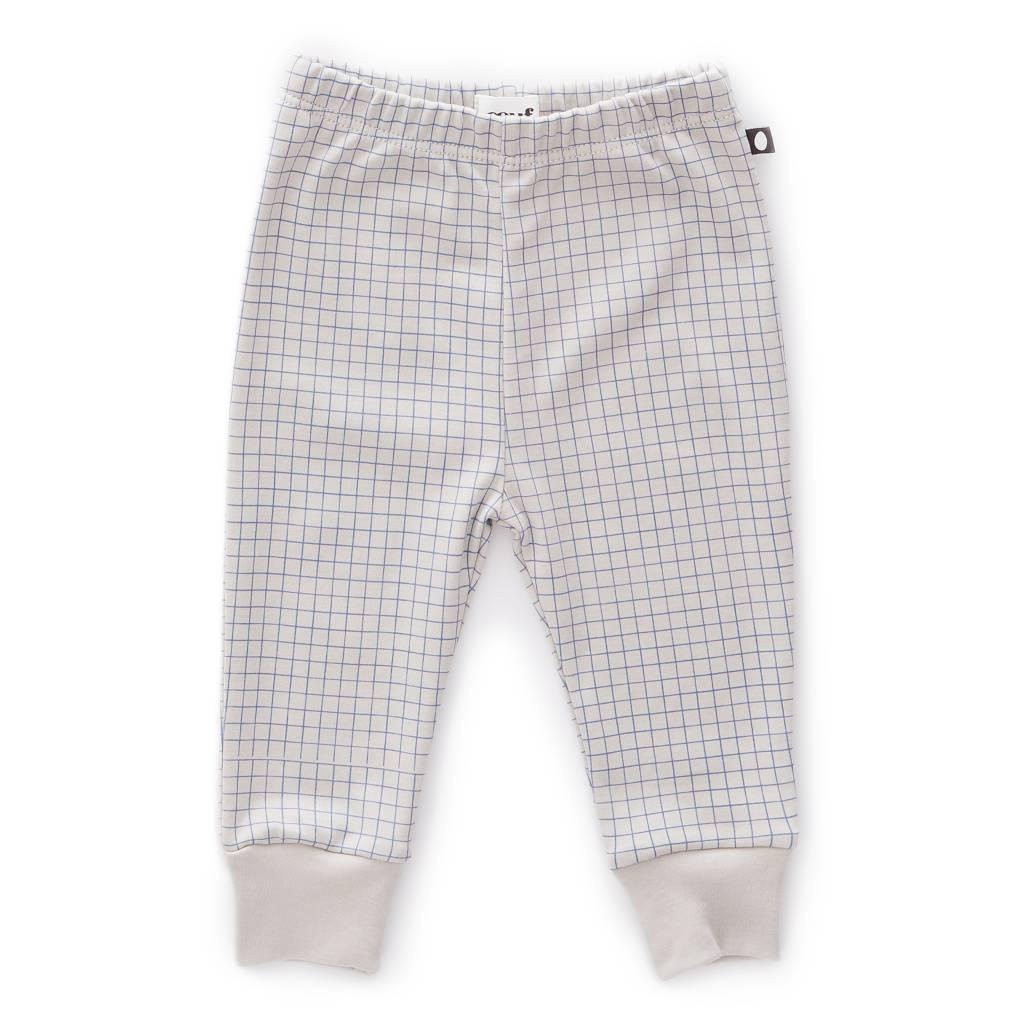 Leggings Light Grey/Blue Checks