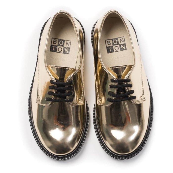 Derbies Miroir Shoes Dore
