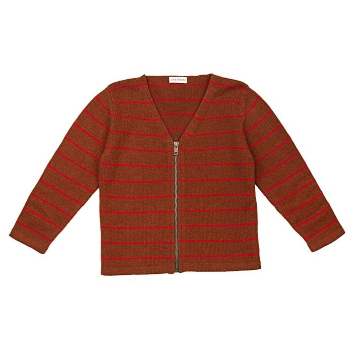 Z Zip Cardigan Brown