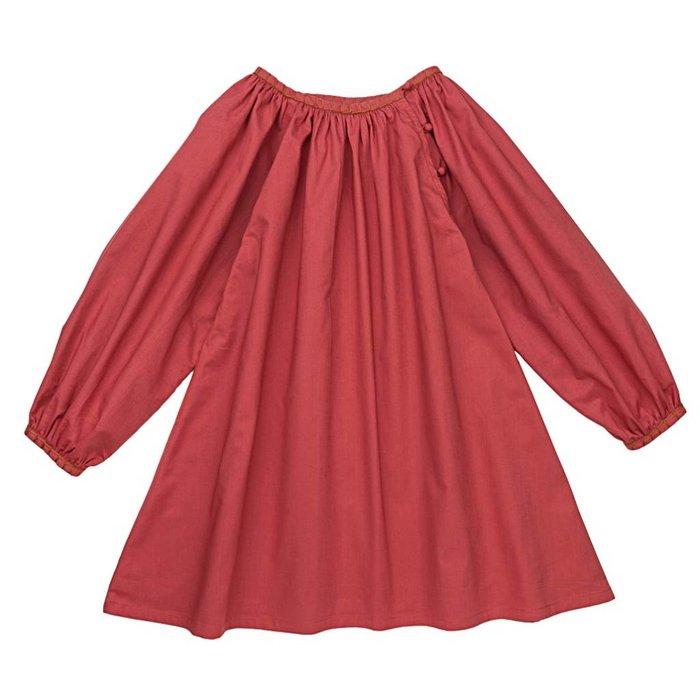 Kali Dress Washed Red