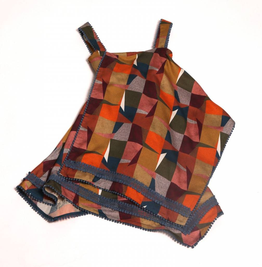 Embroidered Handkerchief Apron Dress Autum Mix