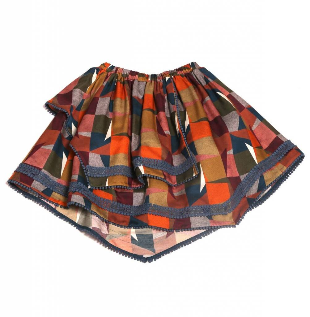 Embroidered Handkerchief Skirt Autum Mix