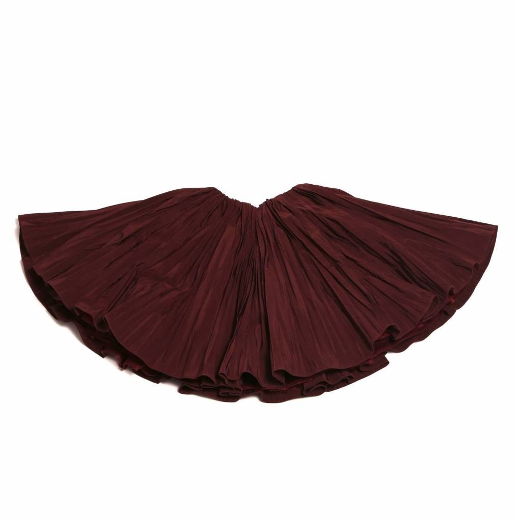 Crushed Pleated Skirt Berry