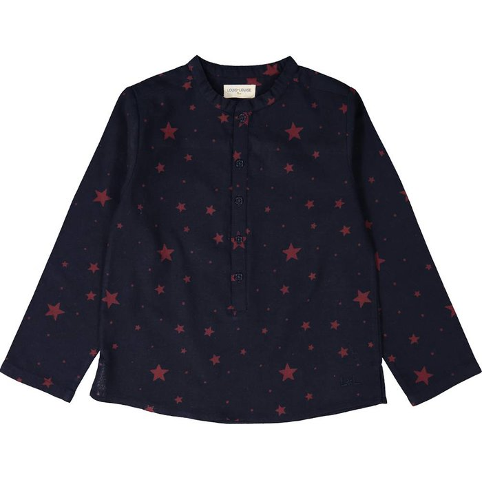 Grand Pere Shirt Twill Stars Navy