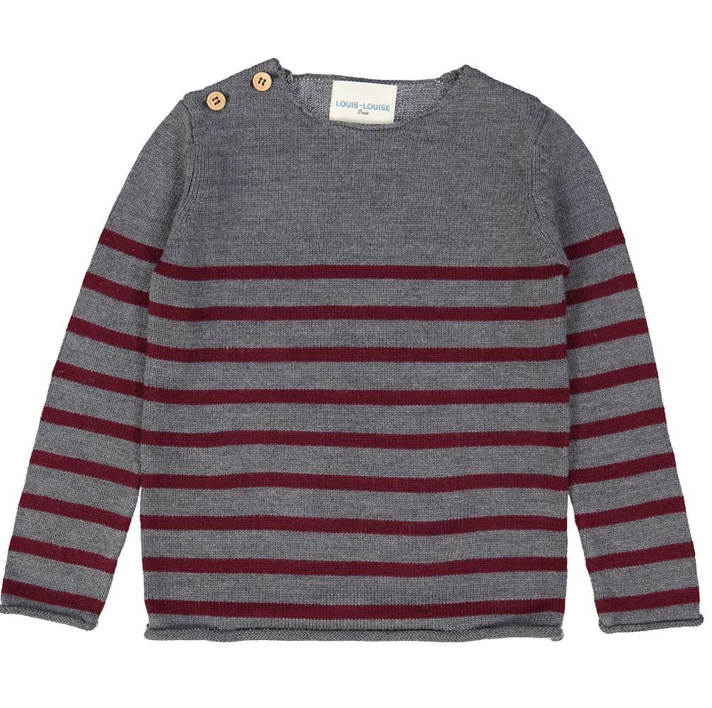 Bobby Sweater Burgundy&Grey