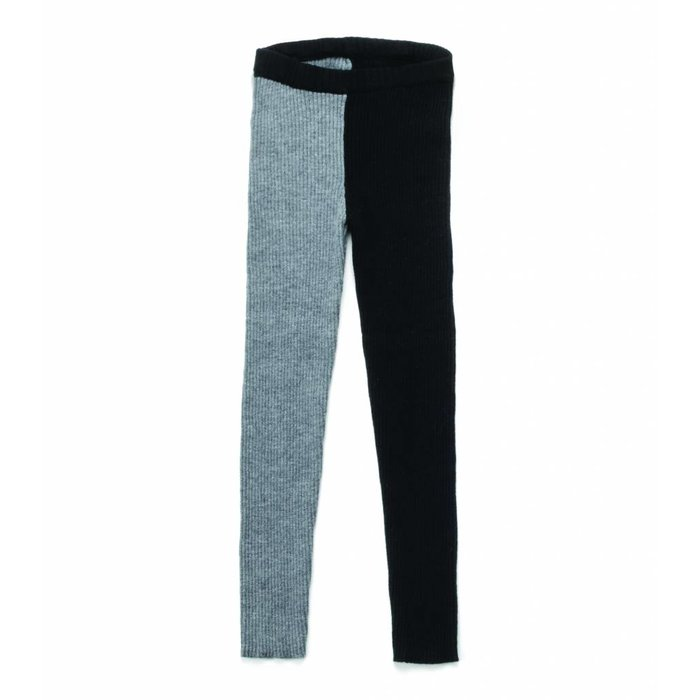 1/2 & 1/2 Knit Leggings Black/Heather Grey