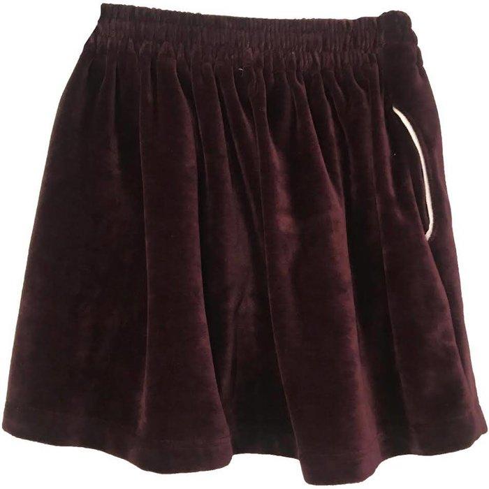 Velvet Skirt Plum