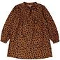 Gina Dress Twill Leopard Cognac
