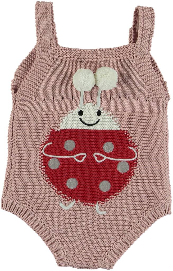 Bunny Romper with Lady Bugs