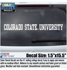 CDI CORP WHITE COLORADO STATE UNIVERSITY STRIP DECAL