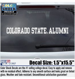 CDI CORP WHITE COLORADO STATE ALUMNI STRIP DECAL