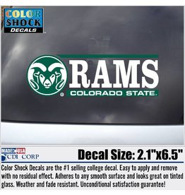 CDI CORP BAR DECAL- COLORADO STATE RAMS