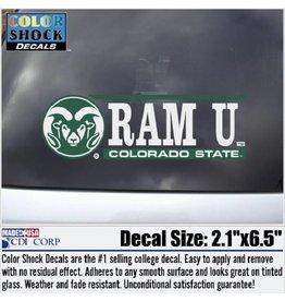 BAR DECAL- RAM U