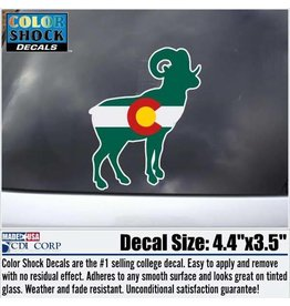 COLORADO FLAG RAM DECAL