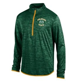 CHAMPION CUSTOM PRODUCTS COLORADO STATE INFINITY 1/4 ZIP- GREEN/GOLD