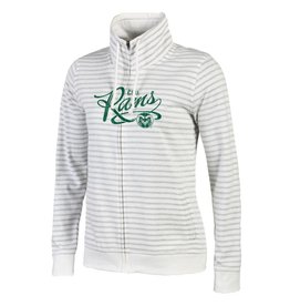 LADIES RESORT STRIPE RAMS FULL ZIP