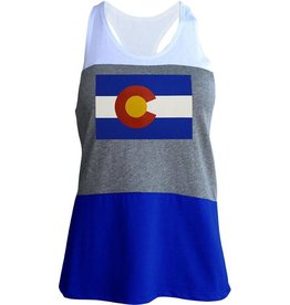 X LADIES COLORADO FLAG TANK