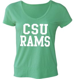U-TRAU X LADIES CSU RAMS POCKET TEE