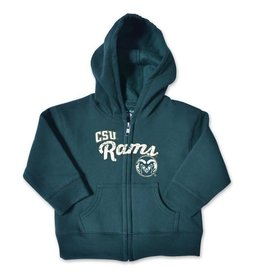 COLLEGE KIDS INF/TOD CSU RAMS FULL ZIP HOODY