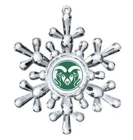 ACRYLIC RAM SNOWFLAKE ORNAMENT