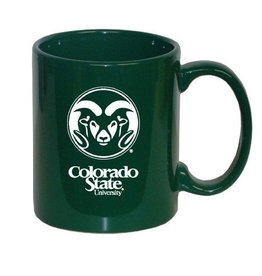 Green Colorado State Ram Logo Coffee Mug