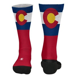 CHAMPION CUSTOM PRODUCTS COLORADO FLAG RED SOCKS