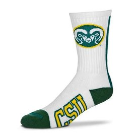 FOR BARE FEET COLORADO STATE VERTICAL STRIPE RAM HEAD SOCK