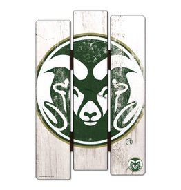COLORADO STATE WOOD FENCE SIGN